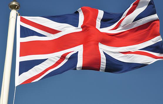 union jack sewn flag united kingdom woven polyester rope toggle photo